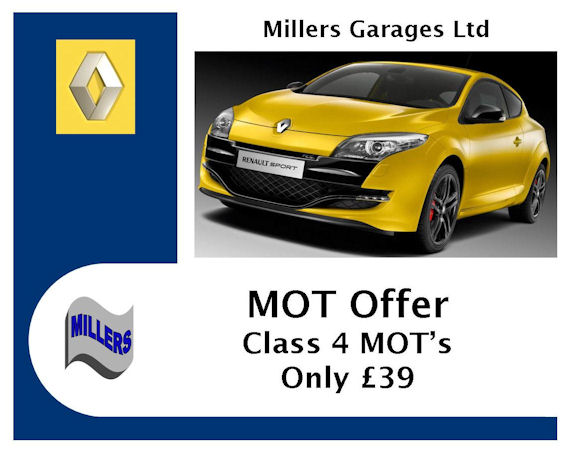 MOT Offer from Millers Garages Falmouth
